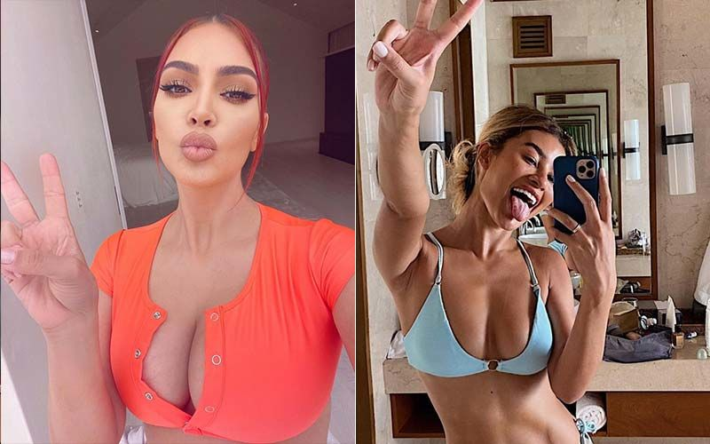Kim Kardashian, Sofia Richie And Others Flash 'Peace' Sign While Posing In Bikinis Without A Care In The World; The Latest Trend Is Quite The Rage