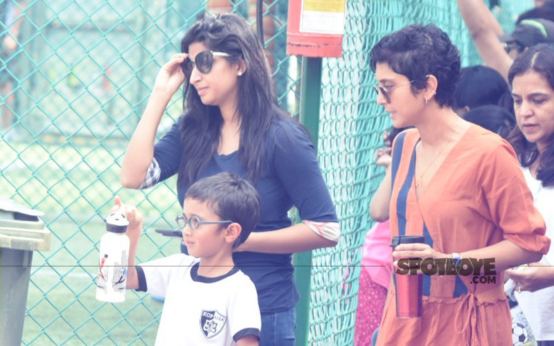 Kiran Rao Spotted Taking Little Azad Rao Khan For A Football Match