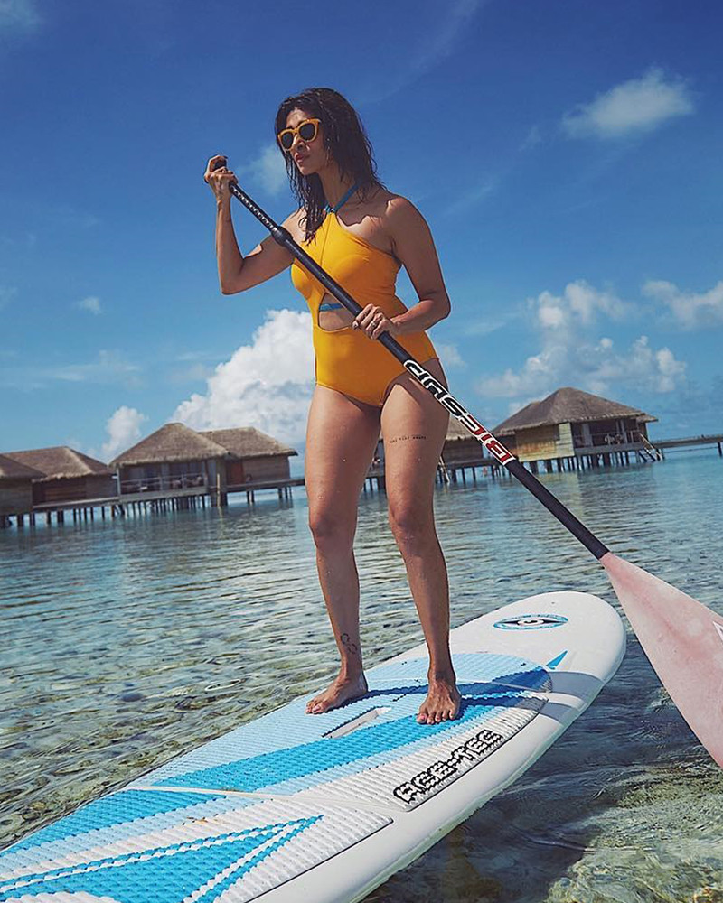 kishwer merchant kayaking in maldives