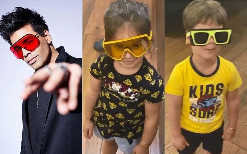 Did Karan Johar's Kids Roohi And Yash Just Call Their Dadda's Sunglass Game 'STUPID'? Watch THIS And Toodle Along
