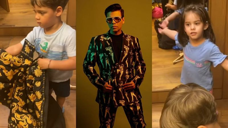 Karan Johar's Quarantine Diaries: Surprisingly, Yash Approves Of His Dad's 'Blanket-Like' Versace Jacket, Roohi Wants To Go Out – VIDEO