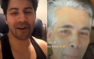 Karan Johar Exposes His 'Greys', Fans Think He Looks HOT; Varun Dhawan Feels He Looks Like A James Bond Villain