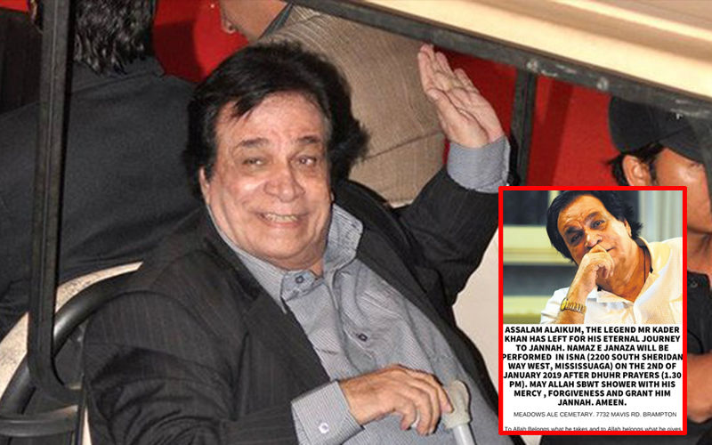 Kader Khan's Mortal Remains To Be Buried At Midnight