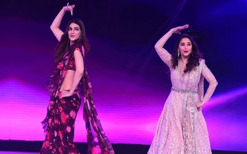 Kriti Sanon Fangirls Over Madhuri Dixit On The Sets Of Dance Deewane; Ladies Dance To Ankhiya Milao Kabhi Akhiya Churao