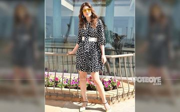 Kriti Sanon Takes The Retro Route, Slips Into A Polka Dot Dress For Her Latest Outing In Town
