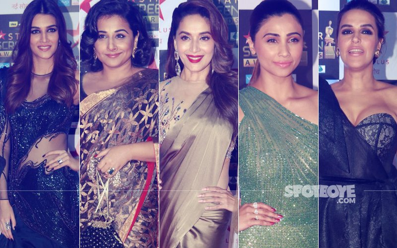 BEST DRESSED & WORST DRESSED At Star Screen Awards 2018: Kriti Sanon, Vidya Balan, Madhuri Dixit, Daisy Shah Or Neha Dhupia?