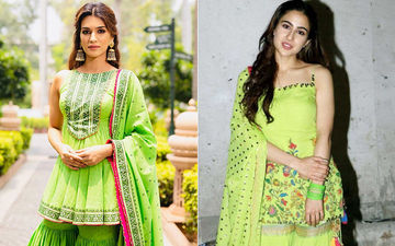 Kriti Sanon's Green Sharara Suit Looks Similar To Sara Ali Khan's Neon Outfit- Who Looks Better In This Desi Look?