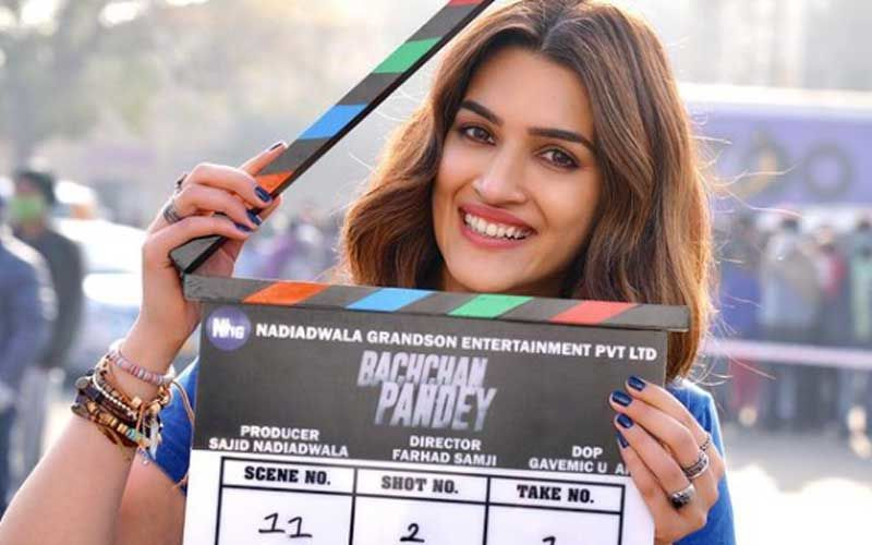 Bachchan Pandey Goes On Floors; Leading Lady Kriti Sanon Shares Pictures From The First Day Of Shoot Sans Akshay Kumar