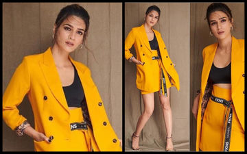 SEXY OR MESSY: Kriti Sanon In A Blazing Skirt-Suit?