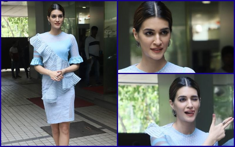 FASHION CULPRIT OF THE DAY: Kriti Sanon's Ice Blue  Dress Is Freezing Cold!