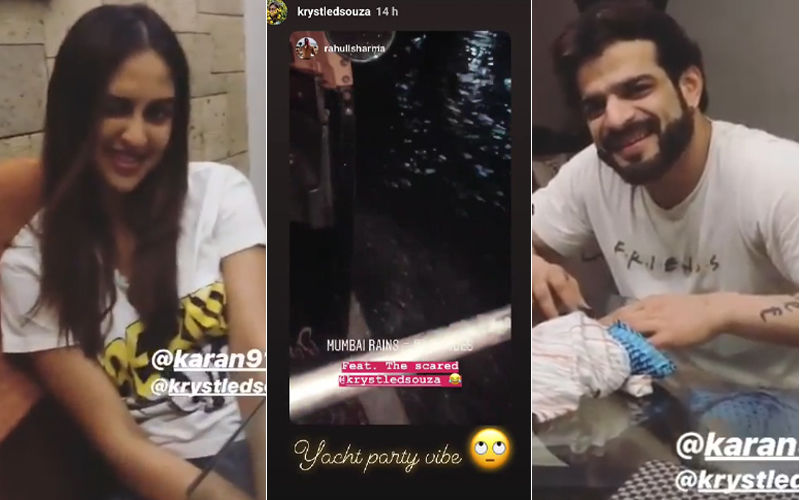 Krystle D'Souza Stranded In Mumbai Rains, Karan Patel Comes To Her Rescue - Watch Video