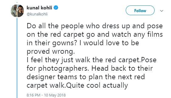 kunal kohli tweets about cannes film festival