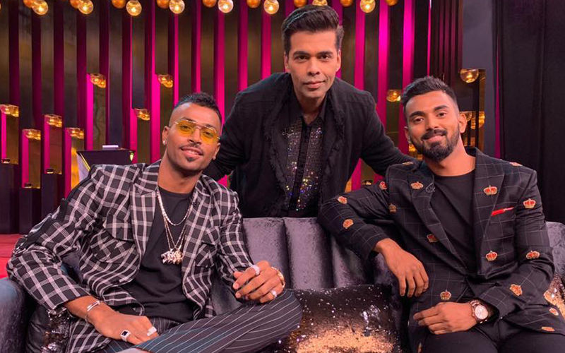 KWK6: Karan Johar Sips Koffee With Men In Blue, Hardik Pandya And KL Rahul