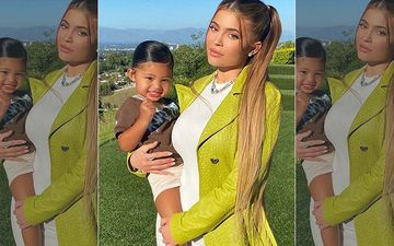 Kylie Jenner's 2-Year-Old Daughter Stormi Casually Sits Holding A Louis Vuitton Mini Handbag Worth A Staggering Rs 88k- PIC INSIDE