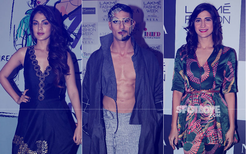 Lakme Fashion Week 2018, Day 1: Rhea Chakraborty, Prateik Babbar, Aahana Kumra Strut The Ramp