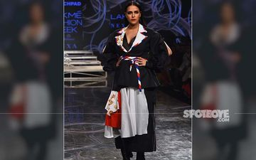 Lakme Fashion Week 2020: Neha Dhupia Turns Showstopper For INIFD Launchpad; Goes Bold And Beautiful In Black