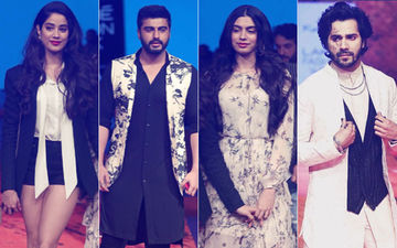 Lakme Fashion Week 2018: Janhvi Kapoor, Arjun Kapoor & Khushi Kapoor Cheer For Varun Dhawan, The Showstopper
