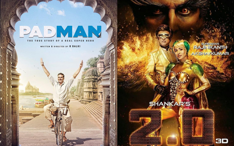 latest posters of padman and 20