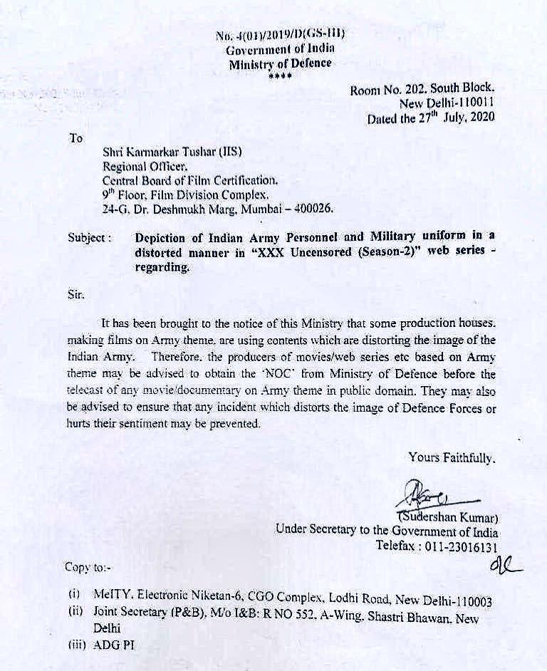 letter to cbfc