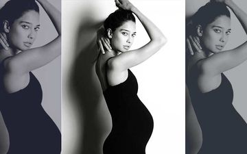 19-Week Preggers Lisa Haydon Flaunts Her Baby Bump In Style In This Latest Monochrome Picture