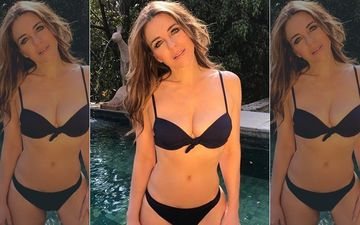 Elizabeth Hurley Announces Black Friday Swimwear Sale In A Hot Black Bikini Flaunting Her Enviable Figure