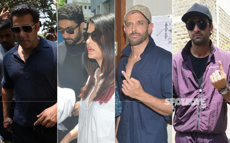Lok Sabha Elections, 2019: Salman Khan, Aishwarya-Abhishek Bachchan, Hrithik Roshan, Ranbir Kapoor Exercise Their Voting Right