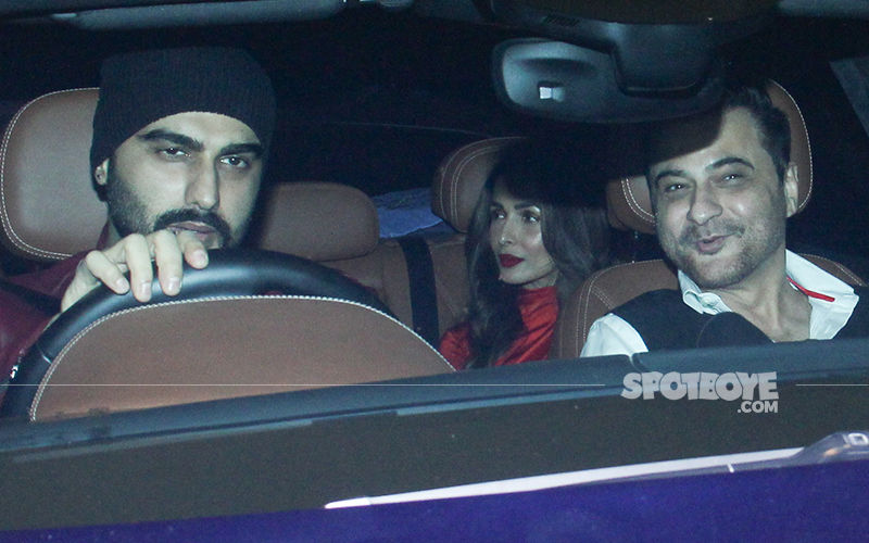 Lovebirds Malaika Arora And Arjun Kapoor Arrive Together At Ritesh Sidhwani's Christmas Bash! – View Pics