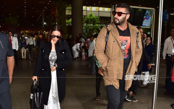 Lovebirds Malaika Arora And Arjun Kapoor Make A Stylish Appearance At The Mumbai Airport: View Photos