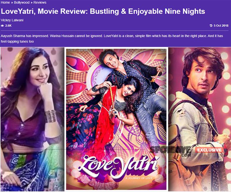 loveyatri movie review