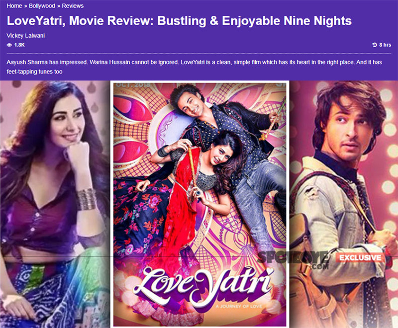 lovyatri movie review