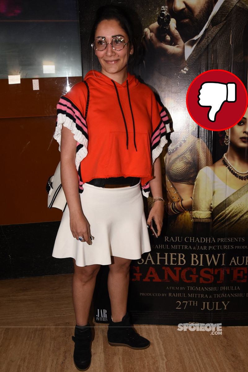 maanyata dutt snapped at the trailer launch of saheb biwi and gangster 3