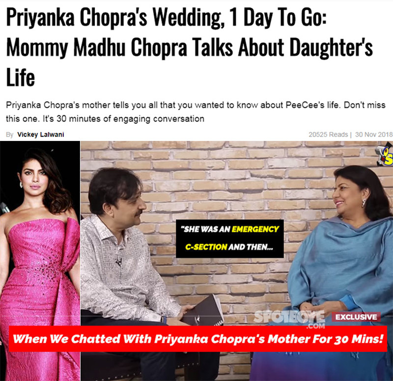 madhu chopra interview