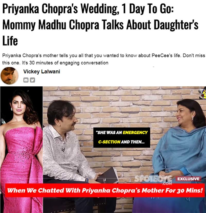 madhu chopra interview
