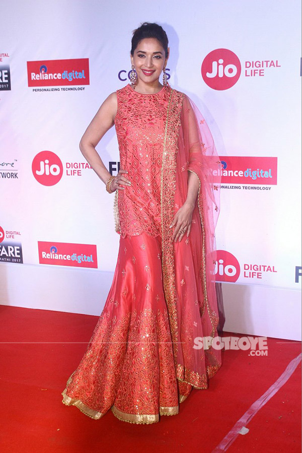 madhuri dixit dons a desi look for the event