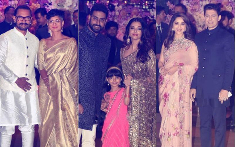 Ambani Engagement Party: Aishwarya-Abhishek, Kiran-Aamir, Madhuri-Sriram Add To The Glamour