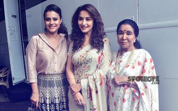 Madhuri Dixit & Kajol Come Together With Asha Bhosle On Sets Of Dance Deewane