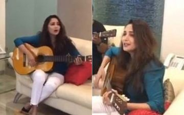Madhuri Dixit Strums The Guitar And Jams To John Legend's All Of Me With Shriram Nene; Color Us Impressed- VIDEO