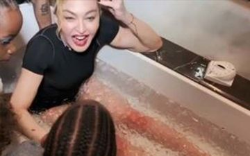 Madonna Prepping For An Ice Bath Is A Grand Affair As She Treats Multiple Injuries After Her Last Show In LA