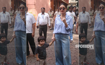 Maharashtra Assembly Elections 2019: Taimur Accompanies Mommy Kareena Kapoor Khan As She Makes Her Vote Count