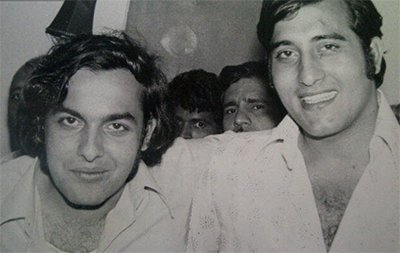 mahesh bhatt and vinod khanna during the early years of their career in Bollywood