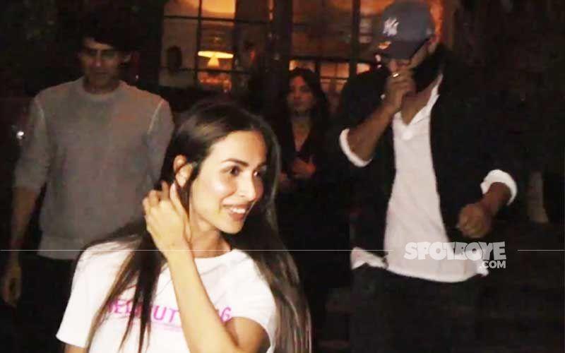 Arjun Kapoor Hides Face As He Parties With Girlfriend Malaika Arora And Gang