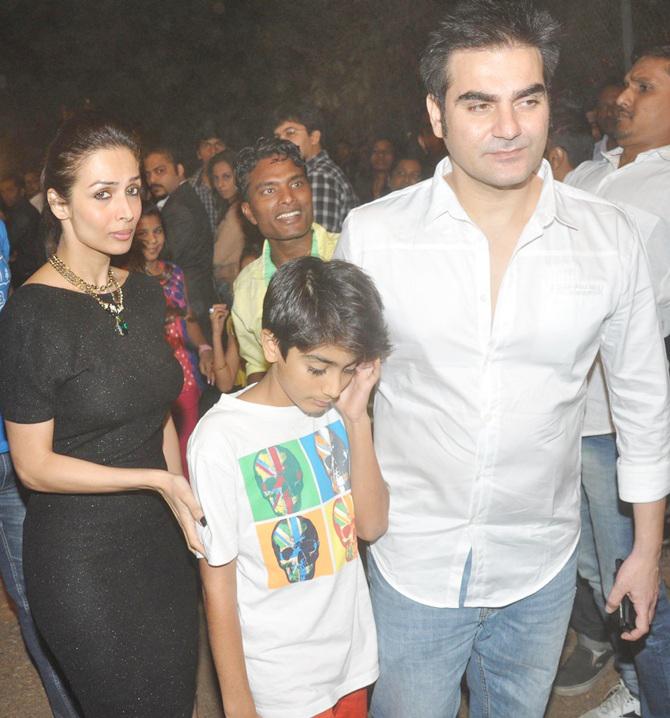 malaika arora arbaaz khan with son arhaan