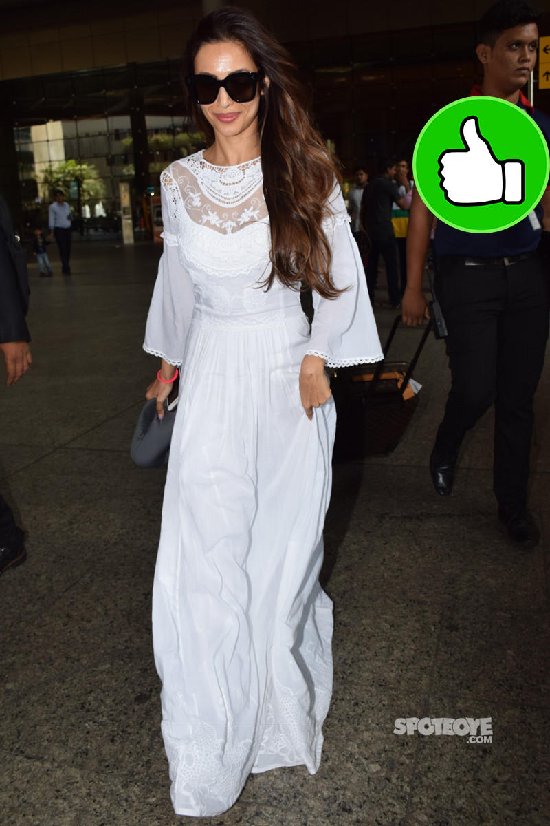 malaika arora at the airport