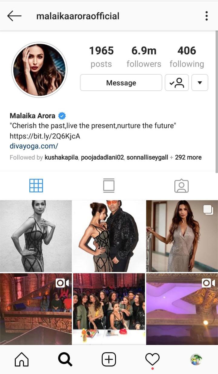 malaika arora instagram