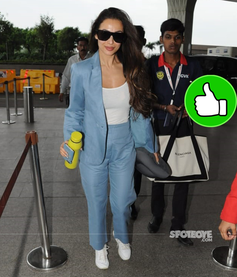 malaika arora snapped at the airport