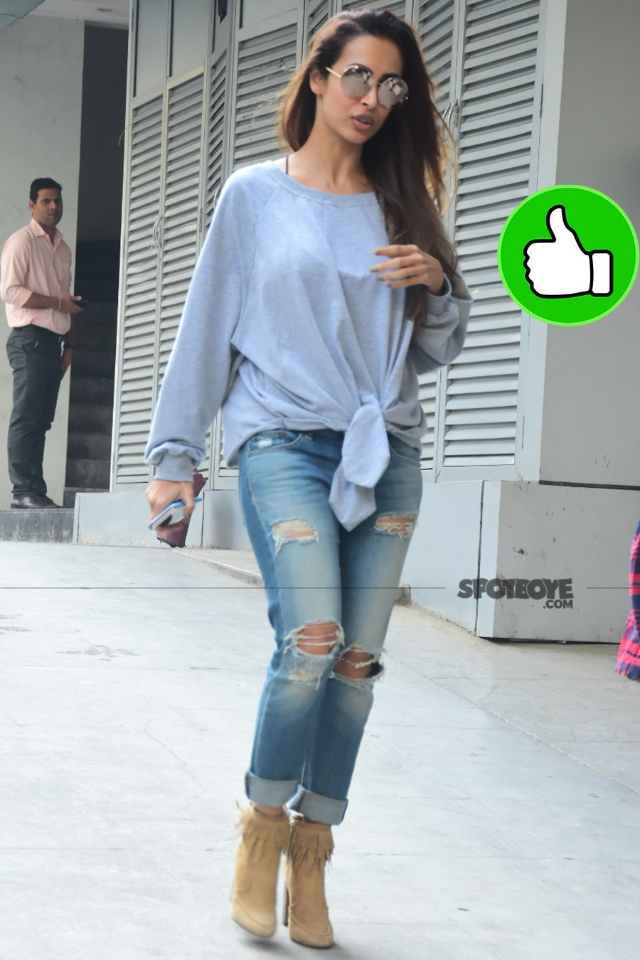 malaika arora snapped post meeting