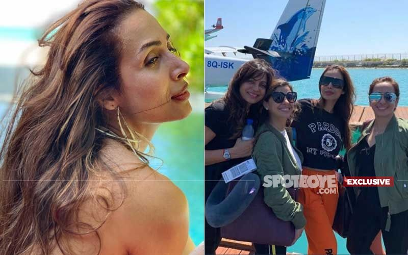Malaika Arora Soaking Up The Sun With Besties In Maldives- Bachelorette Before April Wedding?