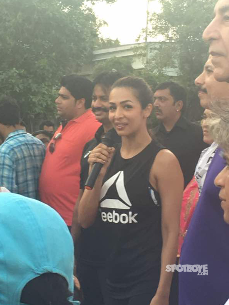 malaika arora spotted at an event on international yoga day