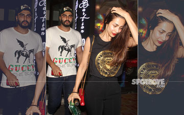Malaika Arora-Arjun Kapoor Enjoy Dinner Date, Leave In The Same Car –Watch Video