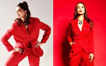 Deepika Padukone Or Malaika Arora- Who Rocked The Sexy Red Power Suit Better?